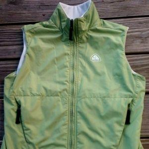 Women's Therma-Fit Green Zip Up Vest